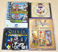 4 PC SPIELE SAMMLUNG - SIEDLER II III IV V - GOLD EDITION 2 3 4 5