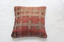 Handmade Turkish kilim cushion cover, multicoloured spiral design, 44x44cm