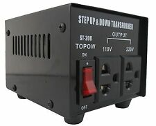 200W Step Up and Down Electrical Power Voltage Converter Transformer Heavy Duty