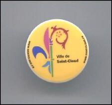 Fève Personnalisée VILLE DE SAINT CLOUD  Porcelaine  3 cm. Environ