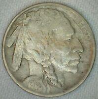 1913 Buffalo Indian Head Nickel 5c US Coin Five Cents Type II VF Very Fine K44