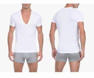2(X)IST 3104104101 Pima Cotton Slim Fit Deep V-Neck T-Shirt Color 10001-White