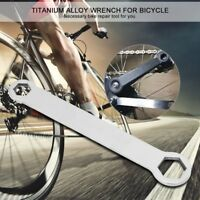 Titanium Alloy Bicycle Bike Wrench 10mm 15mm Bolt Spanner Double Ended Hand Tool