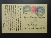 Germany 1921 Uprated Postal Card to New Jersey - Z6797