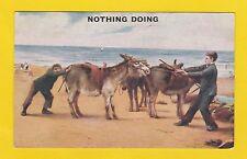 ANIMALS  -  PHOTOCHROM  CO.  LTD.  POSTCARD  -  DONKEYS    (A)   -  C 1920's