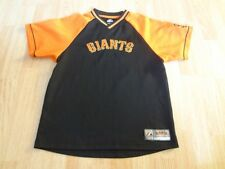 Youth San Francisco Giants L Warmup Jersey Pullover Shirt Athletic Majesti