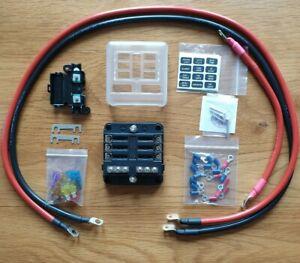 12v Camper van 6 Blade Fuse Box 1m Cable Kit