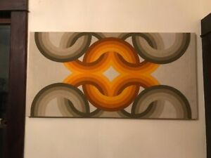 Vintage Op Art Three by Danes Verner Panton Style Retro