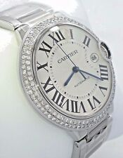 Cartier Ballon Bleu W69012Z4 Diamonds Bezel 42MM XL Size *BRAND NEW* NO RESERVE!