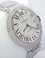 Cartier Ballon Bleu W69012Z4 Diamonds Bezel 42MM XL Size *BRAND NEW* NO RESERVE!