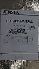 New listing Jensen js 6223 service manual original repair book car radio cassette tape deck