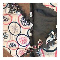 Hand Tied Fleece Blanket - 50 X 60