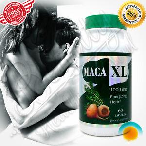 Maca Root Extract 1000 mg  60 capsules Energy Strength Potency Sexual Health Men