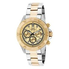 Invicta Mens BNIB15604 Specialty Chrono Gold Dial Two Tone Stainless Steel $795