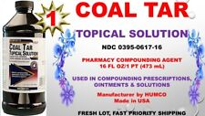 Humco Coal Tar TOPICAL SOLUTION 20% PHARMACEUTICAL COMPOUNDING AGENT 16oz 08/20