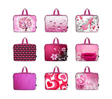 """Pink Laptop Sleeve Bag w Hidden Handle Fit Asus Dell HP Acer 15"""" 15.4"""" 15.6"""""""