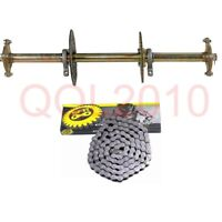 Go Kart Rear Axle Disc Rotor Chain Sprocket Hub Kit +428 Chain For ATV Quad DIY