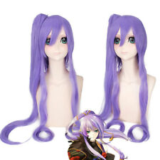 Vocaloid Gackpoid Miku Gakupo Purple Clip Ponytail Costume Cosplay Anime Wig