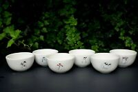 "Set #6 Williams-Sonoma 5"" Bowls HOLIDAY SNOWMAN Soup Cereal SIX Different Guys!"