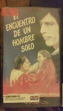 EL ENCUENTRO DE UN HOMBRE SOLO. JORGE LUKE, PATRICIA ASPILLA. RARE SPANISH VIDEO
