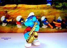 20485 Schtroumpf saxophone fanfare schtroumpfette Smurf pitufo puffo puffi raris