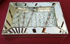 Venetian mirror jewelled jewellery box lined bevelled mirror 26cm wide