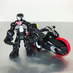 Playskool Marvel Super Hero Adventures VENOM & CYCLE figures motorcycle racer