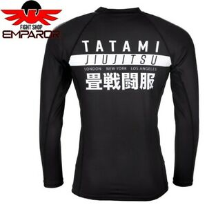 Tatami Rashguard Worldwide Schwarz Langarm MMA BJJ Grappling Rash Guard Herren