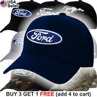 Ford Logo Cap Truck Oval Hat F150 Raptor Shelby GT500 Cobra SVT GT Boss F-150
