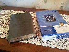 84 NIV Zondervan STUDY BIBLE New in Box  Leather 1984 still in shrink wrap SB 15
