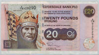 2003 Scotland Clydesdale Bank 20 Pounds P228e Robert the Bruce on Horseback VF
