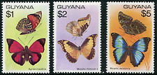 GUYANA # 287 - 289 Very Fine Never Hinged Issues - HI VALUE BUTTERFLIES - S5856