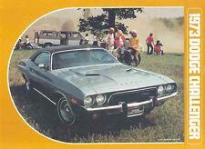 1973 Dodge Challenger Sales Brochure mw4586-F88J2Y