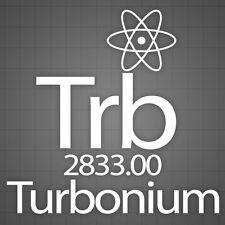 Volkswagen Decals, Volkswagen Turbo window sticker, Turbonium Car decal. 6 PCS