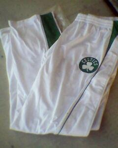 Boston CELTICS White Basketball Warm Up Pants NWT Tall 2XLT +4 3XLT +8 Reebok