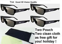 Brand New 4 Pairs VIZIO THEATER 3D glasses XPG302 XPG301 with free Pouch/cloth