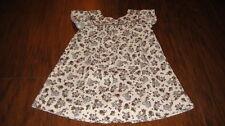 BOUTIQUE ZARA BABY 18-24 BROWN FLORAL DRESS