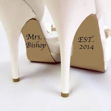 Name and Established Date Wedding Shoe Decals