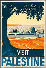 0013 Vintage Travel  Art Poster Palestine