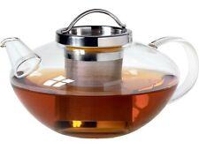 Teekanne aus Glas , Lotus mit Edelstahlsieb und Deckel, 1.2 L Volumen