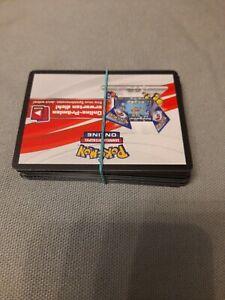 50 Stück Pokemon Online Code-Karten Boosterfrisch unbenutzt