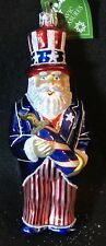 "Slavic Treasures ~ Mouth Blown Glass Ornament ~ Fireworks Santa ~ 6"" ~ Poland"