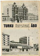 Finland Turku Abo Åbo - Wiklund 1983 continental size double vignette postcard