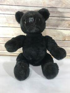 "Vintage Jointed Black Bear Length 18"""