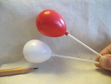L048 Dollhouse Red & White Party Balloons w/ sticks Accessory Miniature re-ment