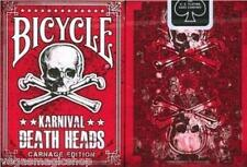 Karnival Death Heads Deck Bicycle Playing Cards Poker Size USPCC Carnage Edition
