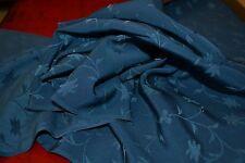 Japanese Silk - Blue Silk with Blue Vine Design 036