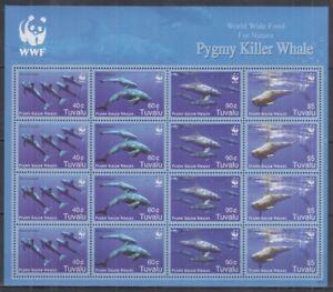 M838. Tuvalu - MNH - Marine Life - Killer Whales - WWF - Full Sheet