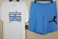 NIKE AIR JORDAN RETRO 11 WIN LIKE 82 OUTFIT SHIRT + SHORTS WHITE BLUE (SIZE 3XL)