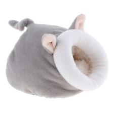 Soft Warm Cotton Mat Hamster Rabbit Hedgehog Pet Nest Cage Sleeping Bed gray